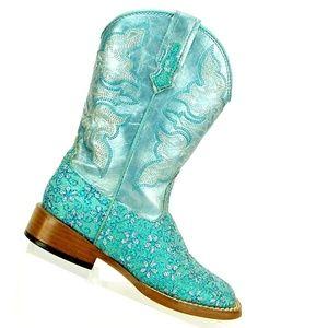 Roper Kid's Floral Glitter Western Cowboy  Boots